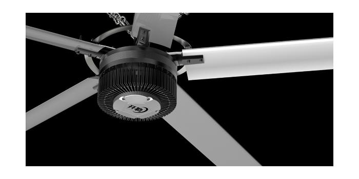 Large diameter fan
