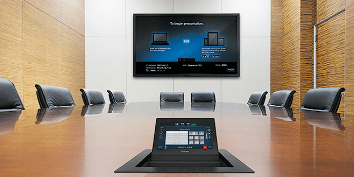 Touch panel with audio and video control
